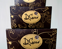 Identity System, Packaging, Website  for D'Cacao