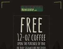 Mountaintop Cafe Email Ad