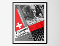 Adrian Frutiger Commemorative Poster