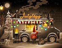 Ripa Julglögg / Illustration for Label Design