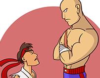 Ryu x Sagat