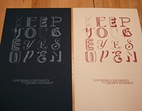 """O"" Letterpress Collaboration"