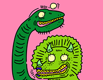 Dino couple.