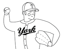 Cannonball Charlie ABC Baseball Coloring Booklet