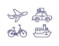 Transport icons animation