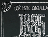 Chalk Typography for Işık Schools