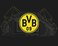 Signal Iduna Park - Borussia Dortmund infographic