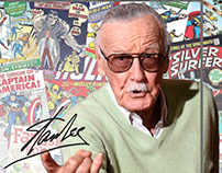 Vajilla inspirada en Stan Lee