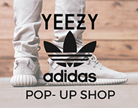 Mock Pop-up Shop for Adidas x Yeezy