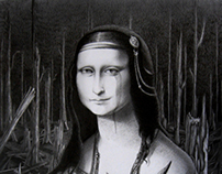 Mona Lisa in the forest