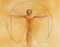 Medtronic Illustrations in the Leonardo da Vinci style