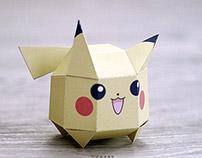chibi Pikachu papertoy