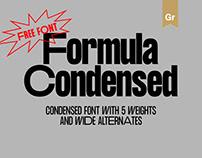 Formula Consensed - Free Font