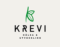 Krevi Hälsa & Utveckling brand identity design