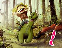 The Dragon Rider - Digital Illustration