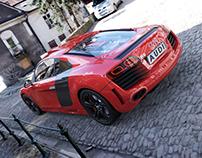 Automotive Renderings - Audi R8/Triumph ThruxtonR