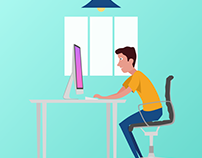 Simple Workspace Illustration using Sketch