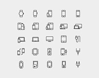 Device Vector Line Icons
