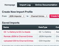 Importer Module for ExpressionEngine