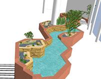 Mead Johnson Cafeteria Planter Renovation - Zen Concept