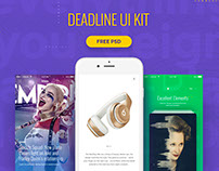 Deadline UI Kit | Free PSD