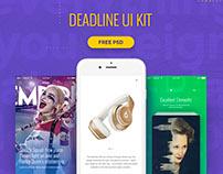 Deadline UI Kit | Free PSD