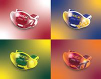 Shock Doctor - MaxAir Flow Lip Guard Designs (NCAA)