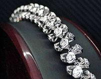 14k White Gold Tony Martin Diamond Bracelet
