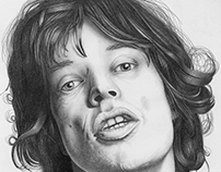 Mick Jagger Pencil Sketch.