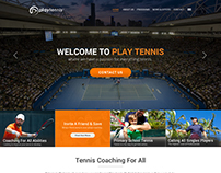 Tennis Home Page Design