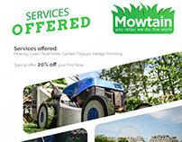 Mowtain Flyer Design