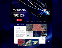 Landing page concept. MARIANA TRENCH ON AIR