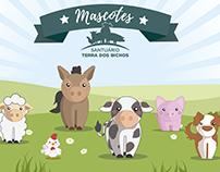 Mascotes | Santuário Terra dos Bichos