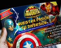 """Diseño de Publicidad y Logotipo para """"Mi Héroe Favorito"""