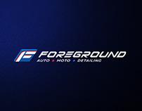 Логотип и элементы айдентики для компании Foreground