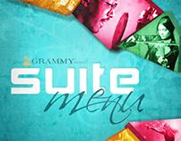 Grammy Awards Suite Menu