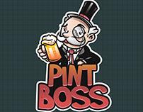 Logo + Mascot Pint Boss