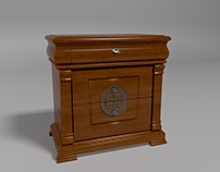 Nightstand. Polished furniture. 3d model