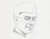 Nehru pointillism