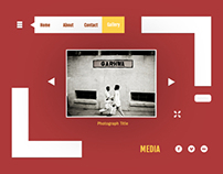 Photography Website Experiment