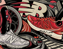 New Balance x TMALL co-brand illustration