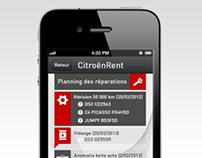 Maquettes Mobile pour CitroënRent