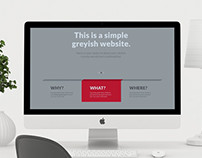 Greyish Web Design Template
