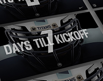Tennessee Titans: Example Countdown Social Grpahics