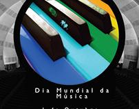 """""""Dia Mundial da Música"""" Flyer"""