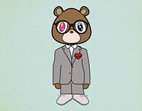 Kanye West 808's and Heartbreak Bear Print