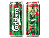 Wraparound can and pack illustration for Carlsberg