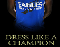 Eagles Dress Like a Champion Poster