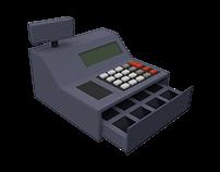 Low Poly 3D Cash Register