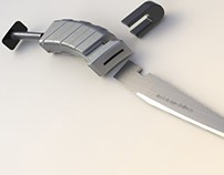 Folding knife with a sharpener